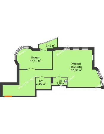 Студия 82,7 м² - ЖК Сергиевская Слобода