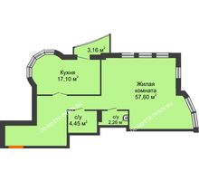 Студия 82,7 м², ЖК Сергиевская Слобода - планировка